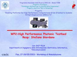 WP2 - ICAR-CNR