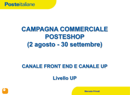 Campagna commerciale posteshop