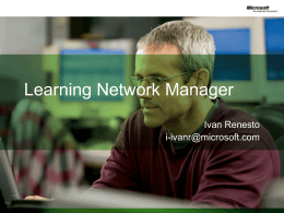 Learning Network Manager