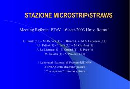 microstrip-straw tube interface - Laboratori Nazionali di Frascati