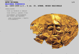 arte micenea, maschere funerarie