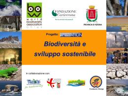 biodiversit   e sviluppo sostenibile