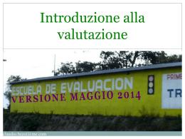 Introduzione alla valutazione mag 2014