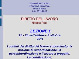 la certificazione - Università di Urbino