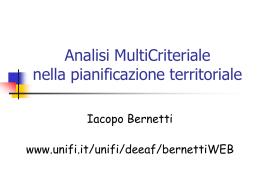 Analisi MultiCriteriale nella pianificazione territoriale