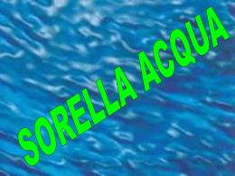 Sorella acqua - Atuttascuola