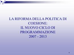 b -Nuovo Ciclo programmazione 2007