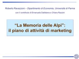Allegato 1 al Piano delle attività di marketing