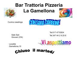 Bar Trattoria Pizzaria