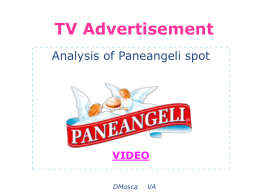 analysis of a TV advertisement