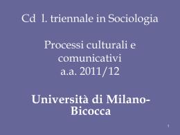 Processi culturali e comunicativi