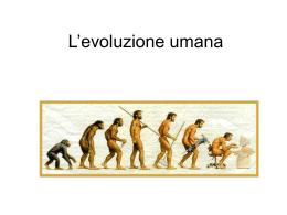 L` evoluzione umana simona e martina - Home