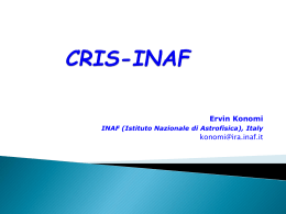 CRIS-INAF: a fruitful cooperation among IT specialists