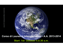 AA 2013-2014 Start 1st October h.8.30 am