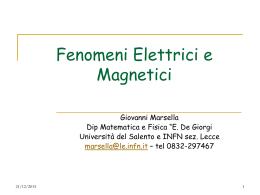 Lezione 1 - Elettromagnetismo