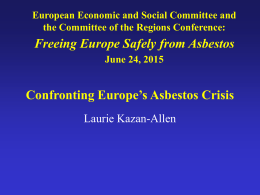 Confronting Europe`s Asbestos Crisis