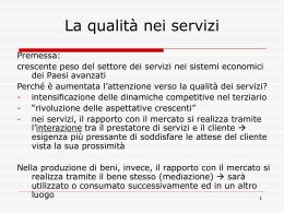 La qualità nei servizi - slide (vnd.ms