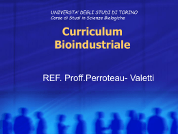 Curriculum Bioindustriale