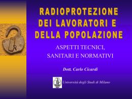 Che cos`è la radioprotezione? - Servizio Prevenzione e Protezione