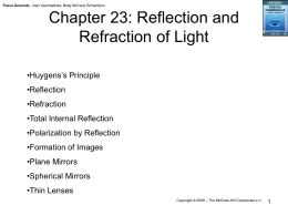 Chapter 23: Reflection and Refraction of Light