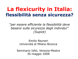 2.1.La flexicurity in Italia