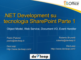 .NET Development su tecnologia SharePoint Parte 1