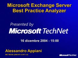 Microsoft Exchange Server Best Practice Analyzer