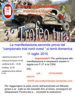 Il Savonafuoristrada organizza