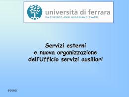 Esternalizzazioni - Università degli Studi di Ferrara