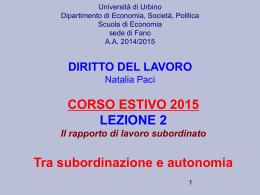 corso estivo 2015 lezione 2
