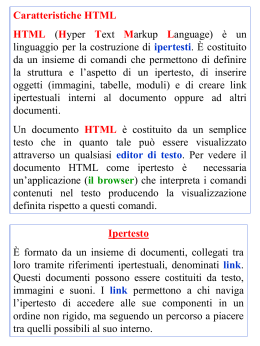 Lezione HTML