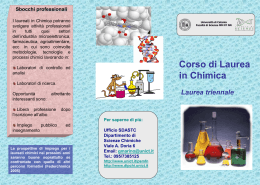 Brochure-chimica_CT1 - Dipartimento di Scienze Chimiche