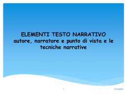 tecniche narrative - letteraturaestoria