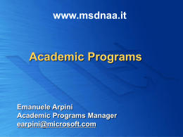 MSDN Academic Alliance - Center