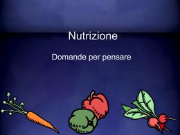 domande sulla nutrizione
