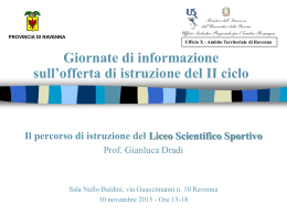 Prof. Gianluca Dradi - Liceo Scientifico