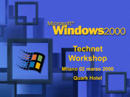 Evento per il lancio di Windows 2000