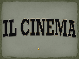 IL CINEMA By Samy ppt