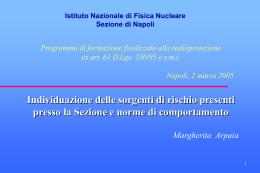 MArpaia - INFN Sezione di Napoli