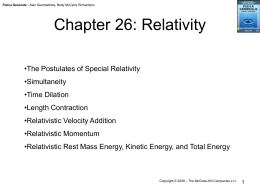 Chapter 26: Relativity