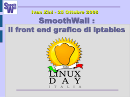 SmoothWall : il front end grafico di iptables