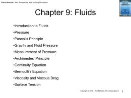 Chapter 9: Fluids