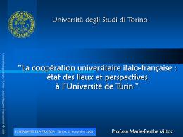 Università degli Studi di Torino Divisione Ricerca e Relazioni
