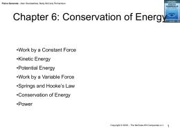 Chapter 6: Energy