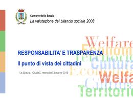 Valutiamo il Bilancio sociale 2008