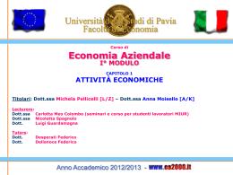 Economia aziendale - Università degli studi di Pavia