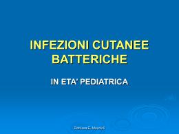 INFEZIONI BATTERICHE