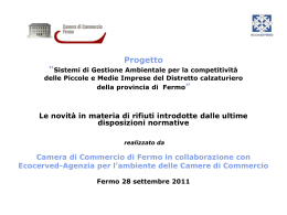 Diapositiva 1 - Camera di Commercio di Fermo