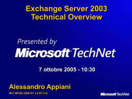 Exchange Server 2003 Technical Overview