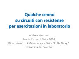 """CircuitiElementari - """"E. De Giorgi"""" – Università del Salento"""